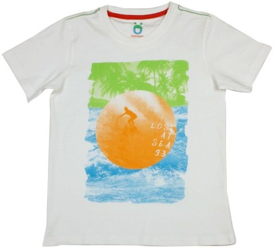Poppers by Pantaloons Graphic Print Boy's Round Neck T-Shirt