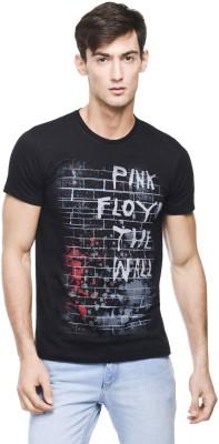 Pink Floyd Printed Men's Round Neck Black T-Shirt