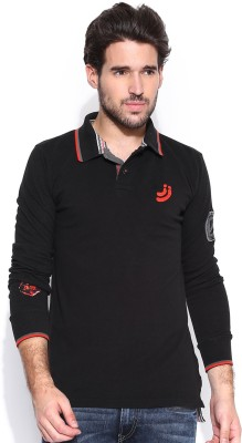 Jn Joy Solid Men's Polo Neck T-Shirt