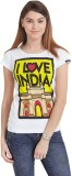 The Indian Solid Women's Round Neck T-Sh...