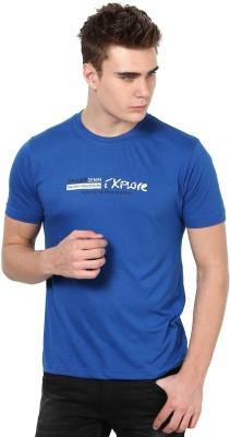 Okane Printed Men's Round Neck Blue T-Shirt