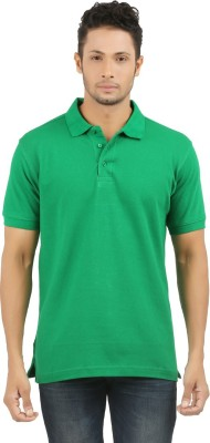 SUNNY Solid Men's Polo Green T-Shirt