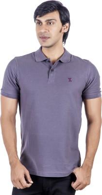 X-Tint Solid Men's Polo Neck Purple T-Shirt