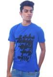 Urban Flux Printed Men's Round Neck Blue...