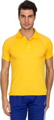Xplore Solid Men's Polo Yellow T-Shirt