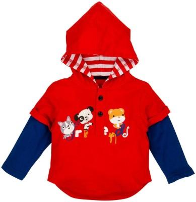 Fisher-Price Printed Baby Boy's Round Neck Red T-Shirt