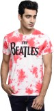 Beatles Printed Men's Round Neck White T...