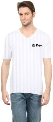Cool Club Solid Men's V-neck White T-Shirt