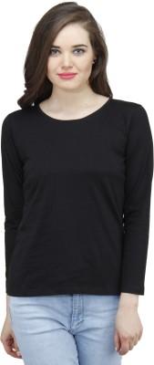 Osumfab Solid Women's Round Neck Reversible T-Shirt