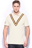 Sher Singh Solid Men's Polo Neck White T...