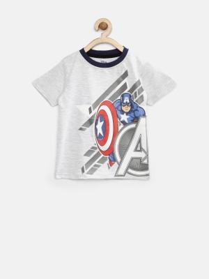 YK Printed Boy's Round Neck T-Shirt