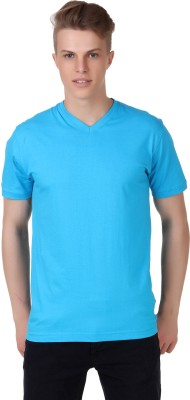 Aventura Outfitters Solid Men's V-neck Light Blue T-Shirt