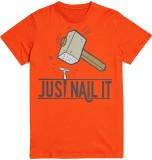 Utpatang Printed Men's Round Neck Orange...