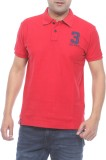 Pepe Solid Men's Polo Neck Red T-Shirt