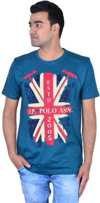 IPG Printed Men's Round Neck Light Blue T-Shirt