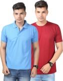 Etoffe Solid Men's Polo Neck Multicolor ...