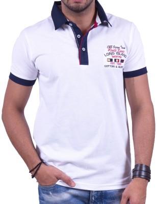 Cotton & Blends Solid Men's Polo Neck T-Shirt
