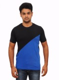 Vagga Solid Men's Round Neck Black T-Shi...