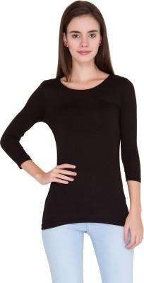Alibi Solid Women's Round Neck T-Shirt
