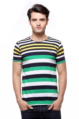 Indiano Striped Men,s Round Neck Multicolor T-Shirt