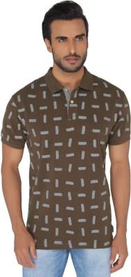 Greenfibre Printed Men's Polo Brown T-Shirt