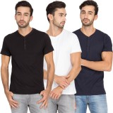 PinStar Solid Men's Henley T-Shirt