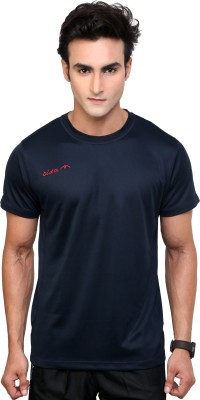 Dida Sportswear Solid Men's Round Neck Blue T-Shirt
