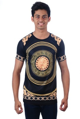 DDI Self Design Men's Round Neck Multicolor T-Shirt