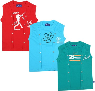 SPN Garments Printed Girl,s Round Neck Red, Blue, Green T-Shirt