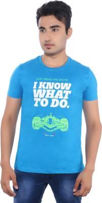 Pavitra Paapi Printed Men's Round Neck Blue T-Shirt