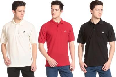 D Vogue London Solid Men's Polo Neck T-Shirt