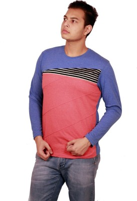 Etyhas Collections Printed Men's Round Neck Blue T-Shirt