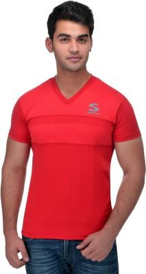 Surly Printed Men's V-neck Red T-Shirt