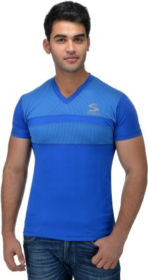 Surly Printed Men's V-neck Blue T-Shirt