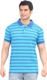 Zebu Striped Men's Polo Neck Light Blue ...