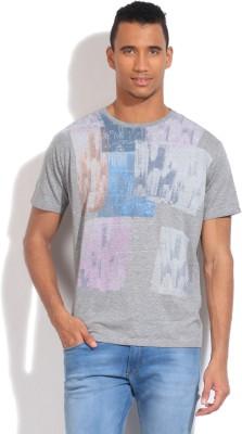 GAS Printed Men's Round Neck Grey T-Shirt