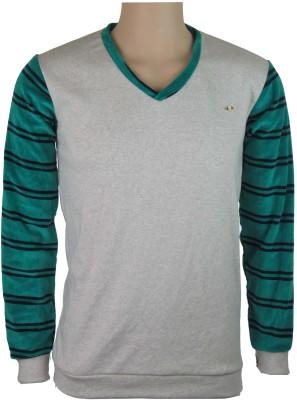 INDIANAVEGAS Self Design Men's V-neck Multicolor T-Shirt