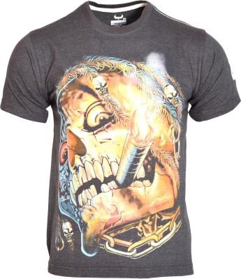 Avenster Graphic Print Men's Round Neck Black T-Shirt