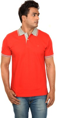 Woodside Solid Men's Polo Red T-Shirt