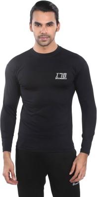 Invincible Solid Men,s Round Neck Black T-Shirt