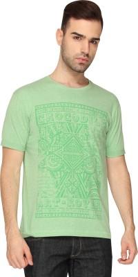 Crocodile Graphic Print Men,s Round Neck Green T-Shirt