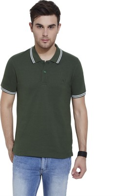 Urban Nomad By INMARK Solid Men's Polo Neck Green T-Shirt