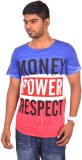 Rogue Printed Men's Round Neck Blue T-Sh...