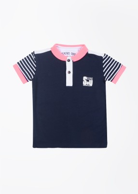 Status Quo Cubs Solid Boy's Polo Blue, White T-Shirt
