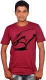Amla Printed Men's Round Neck Red T-Shir...