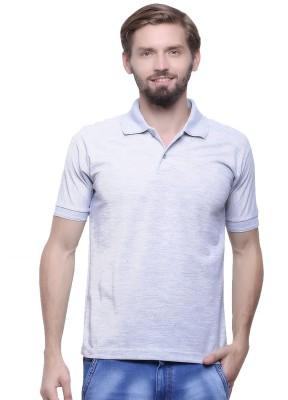 GOINDIASTORE Solid Men's Round Neck Grey T-Shirt