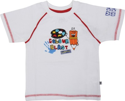 Mee Mee Solid Baby Boy's Round Neck White T-Shirt