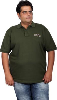Xmex Solid Men's Polo Neck Dark Green T-Shirt