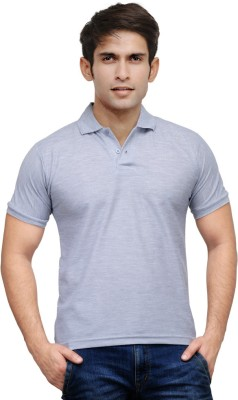 TSX Sportsman Solid Men's Polo Grey T-Shirt