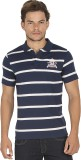 Bonaty Striped Men's Polo Neck Dark Blue...